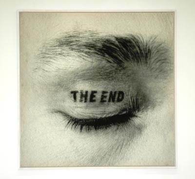 Timm Ulrichs_The End (Augenlidtätowierung)_1970, 16.05.1981_C-Print