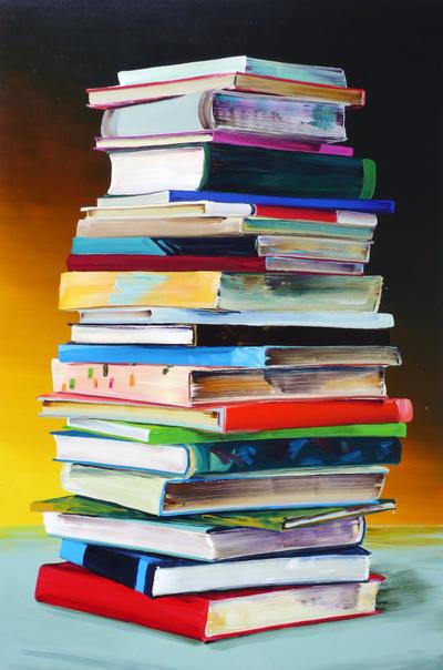 Cornelius Völker, Bücher_2007, Öl auf Leinwand