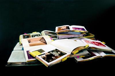 Cornelius Völker_Bücher_2010_Öl auf Leinwand_200x300cm