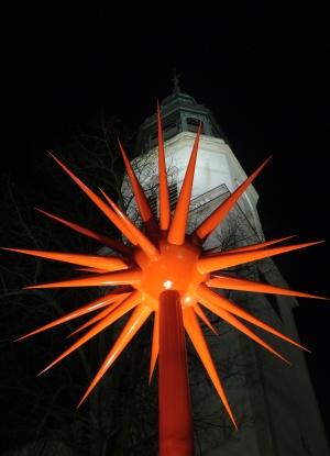 Feuerwerk, 2005/2006 Entwurf für Lichtplastik Stahl, farbig gefaßt Höhe 9 m