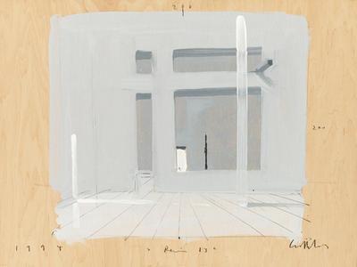 Ben Willikens (*1939) Raum 13, 1994 Gouache auf Holz