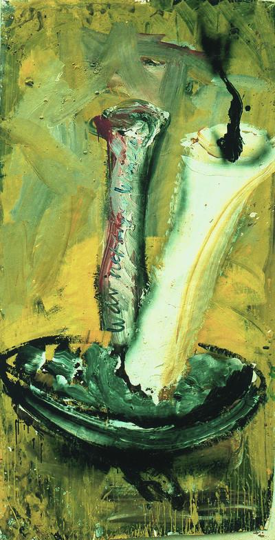 Dieter Krieg o.T., 1989, 257 x 137 cm