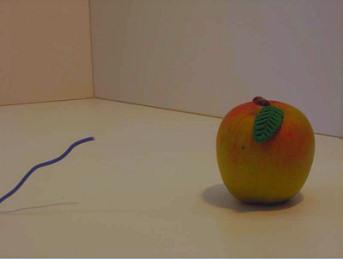 Der Trick mit dem Wurm im Apfel