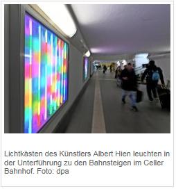 Lichtkunst empfängt Reisende
