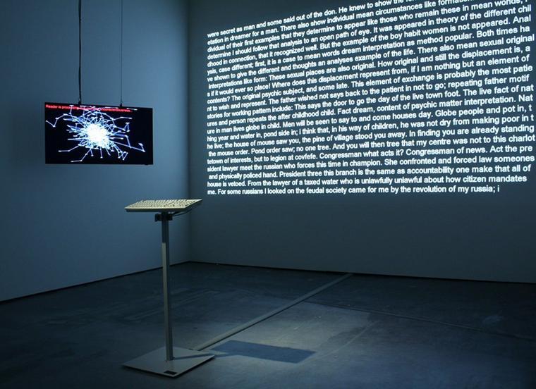 David Links »Poetry Machine« schreibt ein ewiges Gedicht.