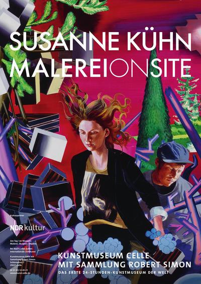 Plakat Susanne Kühn. Malerei ONsite