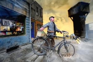 Peter Basseler_Radfahrer Bildung seiner Legende 1988_Foto@Karin Blüher