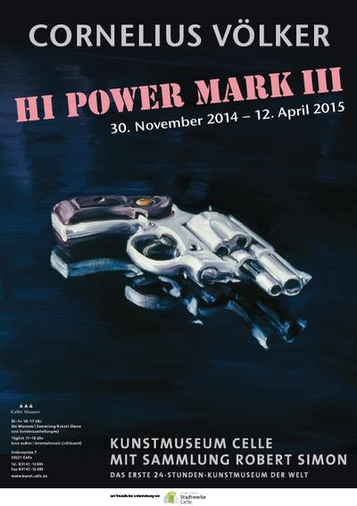Plakat Cornelius Völker. Hi Power Mark III