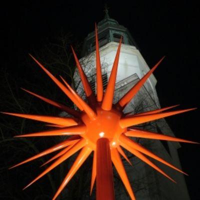 Otto Piene Feuerwerk, 2005/2006 Entwurf für Lichtplastik Stahl, farbig gefaßt Höhe 9 m