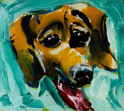 Dieter Krieg o.T. (Hundekopf), 1998, 210 x 233 cm,