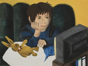 Diederich, Fransiska: »Trägheit«, Malerei, 80x69 cm,