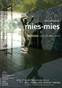 """Plakat  Mischa Kuball: """"mies-mies«"""