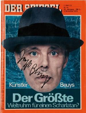 Joseph Beuys (1921- 1986) Der Spiegel, 1979/80 Zeitschrift »Der Spiegel«, 27,8 x 21,5 cm. Auflage: 100, nicht nummeriert, signiert
