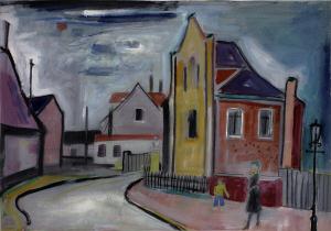 Erich Wegner »Haus mit gelbem Giebel«, 50er Jahre,