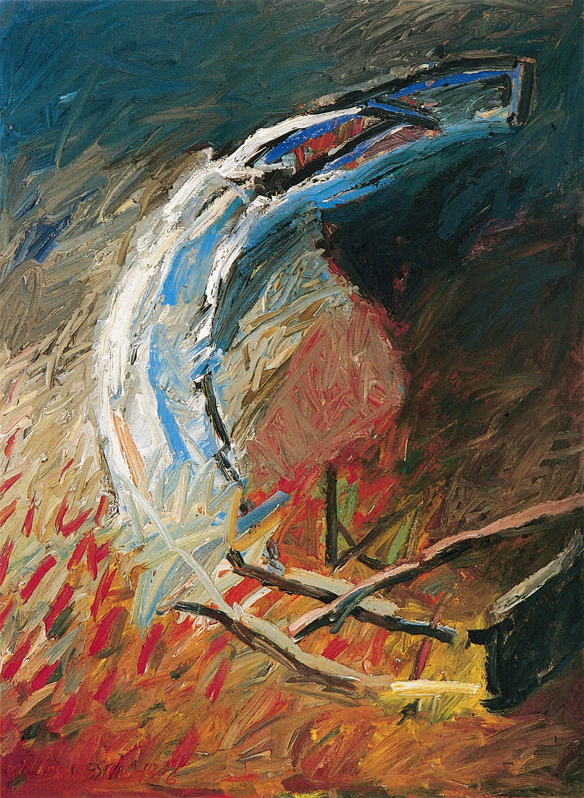 Giso Westing (*1955) Ohne Titel, 1986Öl auf Leinwand 200 x 150 cm