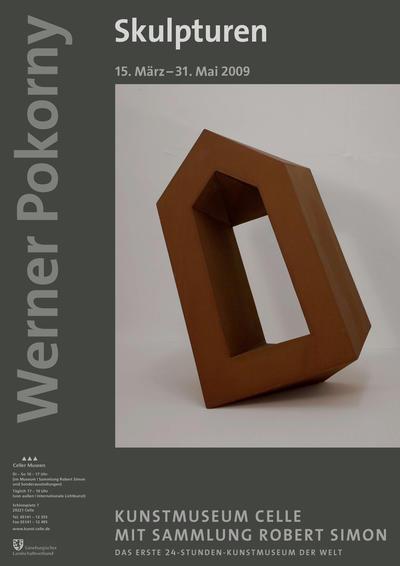 Plakat Werner Pokorny. Skulpturen