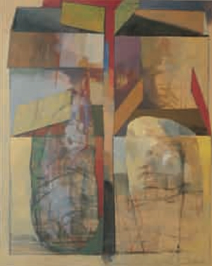 Roland Dörfler (*1926) Vier Aspekte, 1993 Öl auf Leinwand 180 x 145 cm