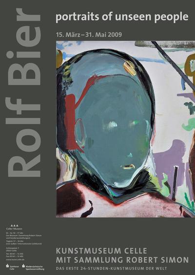 Plakat Rolf Bier. portraits of unseen people
