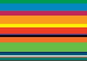 Rüdiger Stanko (*1958) Die Farbe der Zukunft, 2006 Acryl auf Wand zweiteilig, je 145 x 482,5 cm