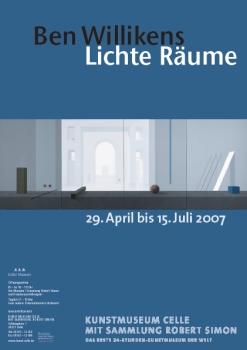 Plakat Ben Willikens. Lichte Räume
