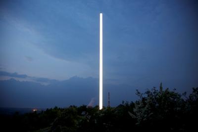 Maik und Dirk Löbbert. IMPULS, 2010 Landmarkenskulptur für die Stadt Bergkamen 33,0 x 0,70 m